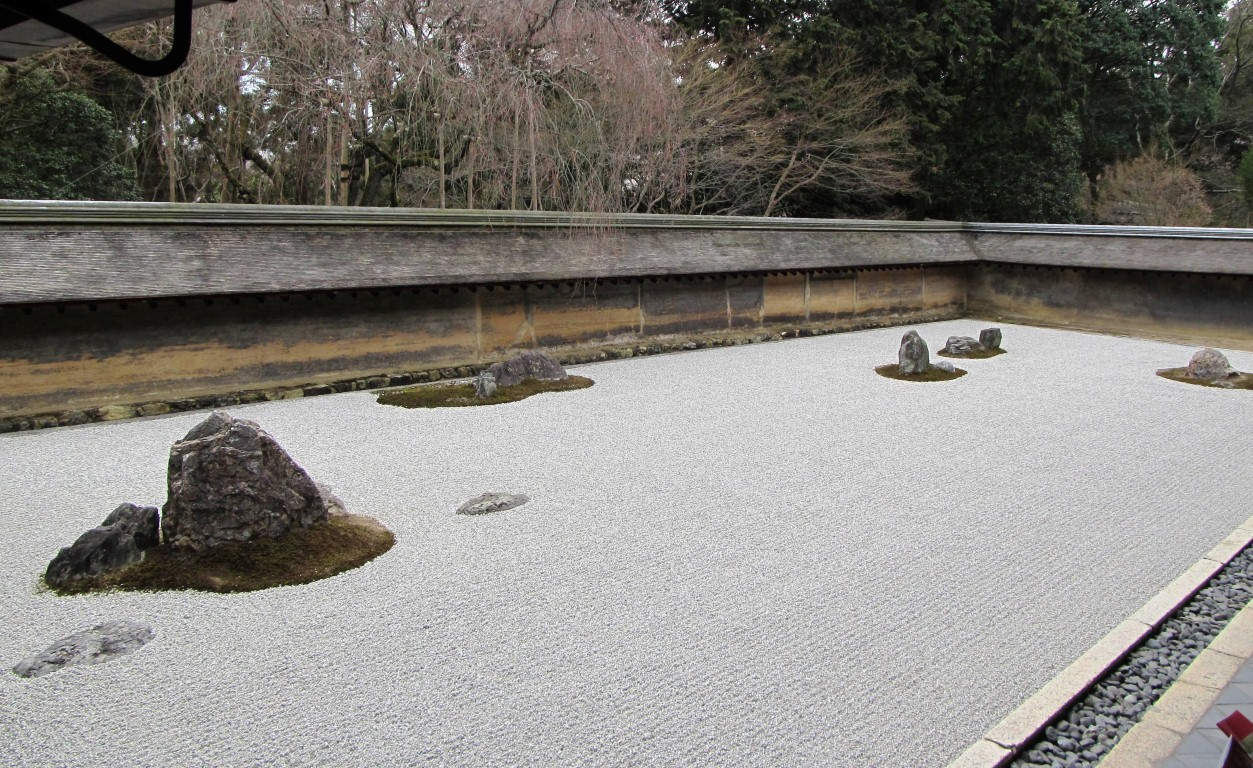 The Ryoan-ji zen garden for meditation
