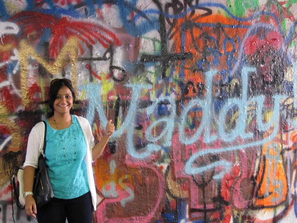 Found my brother's name on this graffiti wall, Maddy is what I call him