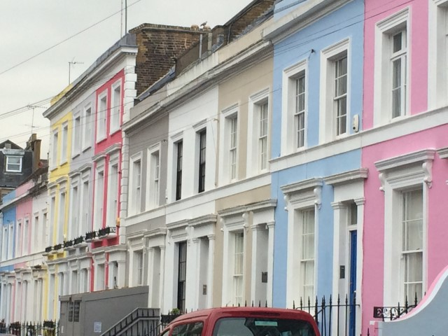 Painted houses notting hill area